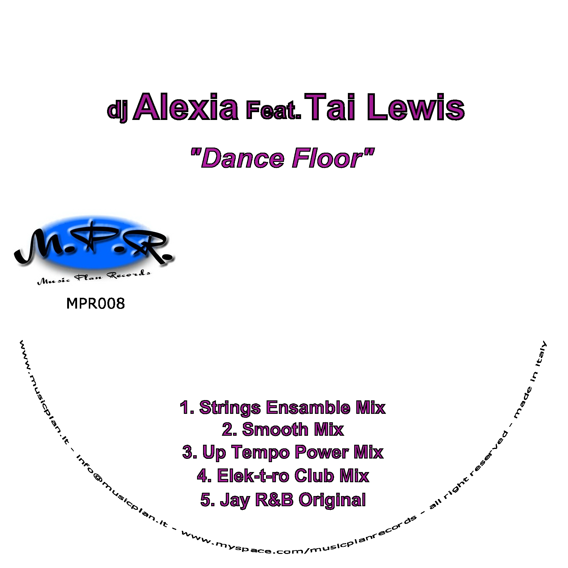 Dj alexia club music elements cme records for 1234 get on the dance floor dj mix